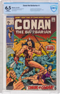 Bronze Age (1970-1979):Adventure, Conan the Barbarian #1 (Marvel, 1970) CBCS FN+ 6.5 White pages....