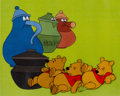 Animation Art:Production Cel, Winnie the Pooh and the Blustery Day Pooh Production CelSequence of 3 (Walt Disney, 1968)....
