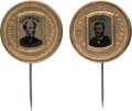 Political:Ferrotypes / Photo Badges (pre-1896), Ulysses S. Grant and Horatio Seymour: Choice Pair of Unlisted Ferrotype Stickpins. ... (Total: 2 Items)
