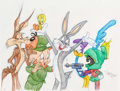 Animation Art:Production Drawing, Virgil Ross - Bugs Bunny and Friends Drawing Original Art (WarnerBrothers, c. 1990s).. ...