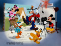 Animation Art:Seriograph, Mickey Mouse and Friends Team Members Only CalArts CommemorativeSerigraph (Walt Disney, c. 1990s).... (Total: 2 Items)