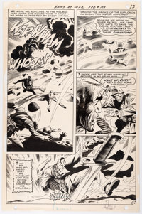 Joe Kubert Our Army At War #189 Story Page 12 Sgt. Rock Original Art (DC, 1978)