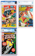 Bronze Age (1970-1979):Miscellaneous, Comic Books - Assorted Silver and Bronze Age Comics CGC- andCBCS-Graded Group of 3 (Various Publishers, 1966-71).... (Total: 3Comic Books)