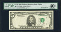 Error Notes:Foldovers, Fold Over and Misalignment Error Fr. 1978-K $5 1985 Federal ReserveNote. PMG Extremely Fine 40 EPQ.. ...