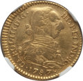 Colombia, Colombia: Charles III gold 2 Escudos 1787 P-SF AU55 NGC,...