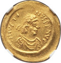 Ancients:Byzantine, Ancients: Justin II (AD 565-578). AV semissis (2.23 gm). NGCMS 5/5 - 4/5....