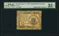 Continental Currency February 17, 1776 $1 PMG Choice Very Fine 35 EPQ
