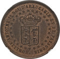 Argentina, Argentina: Patagonia. New France bronze Essai 2 Centavos 1874 MS64Brown NGC,...
