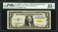 Small Size:World War II Emergency Notes, Fr. 2306 $1 1935A North Africa Silver Certificate. PMG Choice VeryFine 35 EPQ.. ...