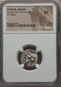 Ancients:Greek, Ancients: PONTUS. Amisus (as Peiraieus). Ca. 400-360 BC. ARsiglos. NGC XF....