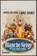"""Movie Posters:Animation, Snow White and the Seven Dwarfs (Discibel, R-1962). Belgian (14"""" X21.5""""). Animation.. ..."""