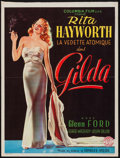 "Movie Posters:Film Noir, Gilda (Columbia, 1946). Trimmed Belgian (14.25"" X 18.75""). FilmNoir.. ..."