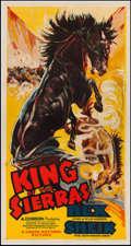 "Movie Posters:Western, King of the Sierras (Grand National, 1938). Three Sheet (41"" X 78.5""). Western.. ..."