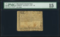 Colonial Notes:Maryland, Maryland December 7, 1775 $8 PMG Choice Fine 15.. ...