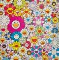 Fine Art - Work on Paper:Print, Takashi Murakami (b. 1962). Flowers from The Village ofPonkotan, 2011. Offset lithograph in colors on wove paper. 19 x...