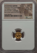 Ancients:Byzantine, Ancients: Heraclius (AD 610-641) and Heraclius Constantine (AD613-641). AV solidus (4.47 gm). NGC AU 4/5 - 4/5....
