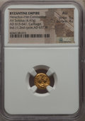 Ancients:Byzantine, Ancients: Heraclius (AD 610-641) and Heraclius Constantine (AD613-641). AV solidus (4.47 gm). NGC AU 5/5 - 4/5....