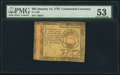 Colonial Notes:Continental Congress Issues, Continental Currency January 14, 1779 $65 PMG About Uncirculated53.. ...