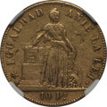 Chile, Chile: Republic gold 10 Pesos 1852-So VF Details (SurfaceHairlines) NGC,...