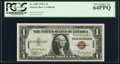 Small Size:World War II Emergency Notes, Fr. 2300 $1 1935A Hawaii Silver Certificate. PCGS Very Choice New64PPQ.. ...