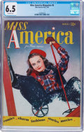 Golden Age (1938-1955):Romance, Miss America Magazine V1#6 (Miss America Publishing, 1945) CGC FN+6.5 Off-white pages....