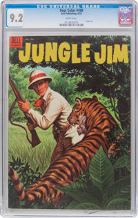 Four Color #490 Jungle Jim (Dell, 1953) CGC NM- 9.2 White pages