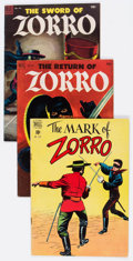 Golden Age (1938-1955):Miscellaneous, Four Color Zorro Related Group of 6 (Dell, 1949-59) Condition: Average FN.... (Total: 6 Comic Books)