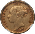 Australia, Australia: Victoria gold 1/2 Sovereign 1887-M XF Details (ObverseScratched) NGC,...