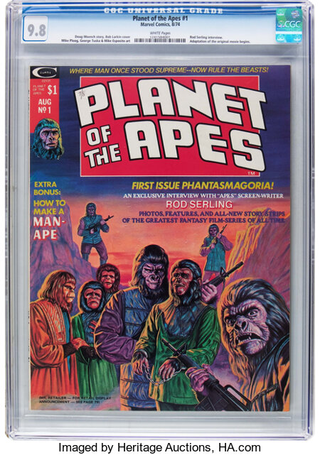 Planet of the Apes #1 (Marvel, 1974) CGC NM/MT 9.8 White pages....