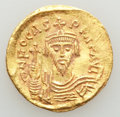 Ancients:Byzantine, Ancients: Phocas (AD 602-610). AV solidus (4.43 gm). Choice XF....