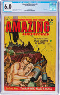 Golden Age (1938-1955):Science Fiction, Amazing Adventures #6 (Ziff-Davis, 1952) CGC FN 6.0 Off-white towhite pages....