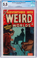 Golden Age (1938-1955):Horror, Adventures Into Weird Worlds #30 (Atlas, 1954) CGC FN- 5.5Off-white pages....