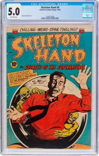 Skeleton Hand #6 (ACG, 1953) CGC VG/FN 5.0 Off-white pages