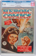 Golden Age (1938-1955):War, Heroic Comics #17 File Copy (Eastern Color, 1943) CGC NM 9.4 Creamto off-white pages....