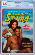 Golden Age (1938-1955):Romance, Famous Stars #3 (Ziff-Davis, 1950) CGC FN- 5.5 Off-white pages....