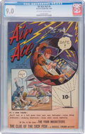 Golden Age (1938-1955):War, Air Ace V2#5 (Street & Smith, 1944) CGC VF/NM 9.0 Off-white towhite pages....
