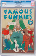 Platinum Age (1897-1937):Miscellaneous, Famous Funnies #18 (Eastern Color, 1936) CGC VF- 7.5 Cream tooff-white pages....