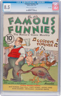 Platinum Age (1897-1937):Miscellaneous, Famous Funnies #40 Lost Valley Pedigree (Eastern Color, 1937) CGCVF+ 8.5 Cream to off-white pages....