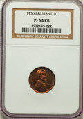 Proof Lincoln Cents, 1936 1C Type Two--Brilliant Finish PR64 Red and Brown NGC. NGC Census: (45/19). PCGS Population: (126/19). Mintage 5,569. ...