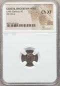 Ancients:Greek, Ancients: CILICIA. Tarsos. Balakros, satrap of Cilicia (333-323BC). AR obol. NGC Choice XF....