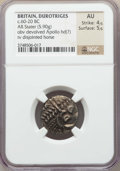 Ancients:Celtic, Ancients: BRITAIN. Durotriges. Ca. 60-20 BC. AR stater (5.90gm).NGC AU 4/5 - 5/5....