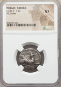 Ancients:Greek, Ancients: THRACE. Abdera. Ca. 336-311 BC. AR stater. NGC VF....