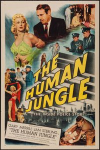 """The Human Jungle (Allied Artists, 1954). One Sheet (27"""" X 41""""). Crime"""