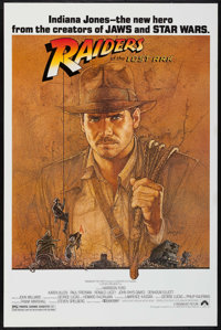 """Raiders of the Lost Ark (Paramount, 1981). Fan Club One Sheet (27"""" X 41""""). Adventure"""