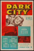 "Movie Posters:Crime, Dark City (Paramount, 1950). One Sheet (27"" X 41""). Crime.. ..."