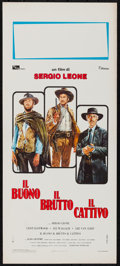 "Movie Posters:Western, The Good, the Bad and the Ugly (Titanus, R-1972). Italian Locandina (13"" X 27.5""). Western.. ..."