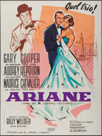 """Love in the Afternoon (Allied Artists, 1957). French Grande (47"""" X 63"""") Andre Bertrand Artwork. Romance"""