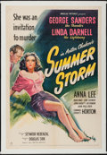 "Movie Posters:Drama, Summer Storm (United Artists, 1944). One Sheet (27"" X 41"") StoneLitho Style. Drama.. ..."