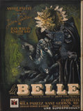 "Movie Posters:Fantasy, La Belle et la Bete (DisCina, 1946). Partial French Double Grande (47"" X 63""). Fantasy.. ..."