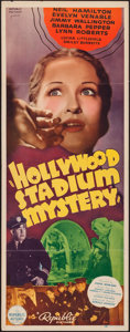 "Movie Posters:Mystery, Hollywood Stadium Mystery (Republic, 1938). Insert (14"" X 36"").Mystery.. ..."